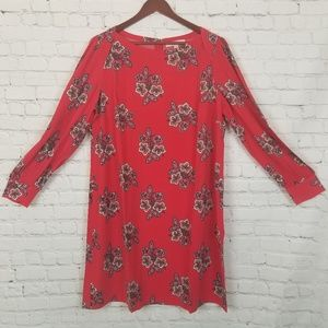 Loft Plus Red Floral Shirt Dress NWT